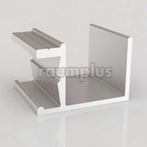 Направляющая для двери со скосом серебро