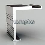 Профиль держатель стеновой для направляющей под доводчик