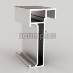 Профиль горизонтальный верхний/нижний серебро