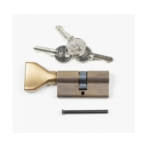 Цилиндр замка Swing,ключ/тумблер,бронза